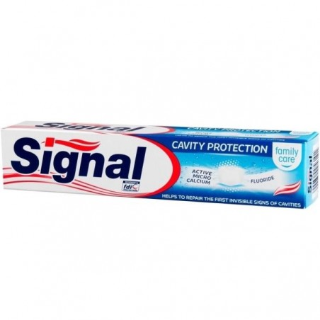 DENTIFRICE SIGNAL CAVITY...